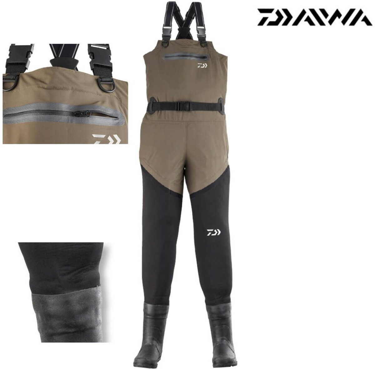 68432138be9 DAIWA HYBRID NEOPRENE WADER WITH BOOT&BREATHABLE CHEST - Monster ...
